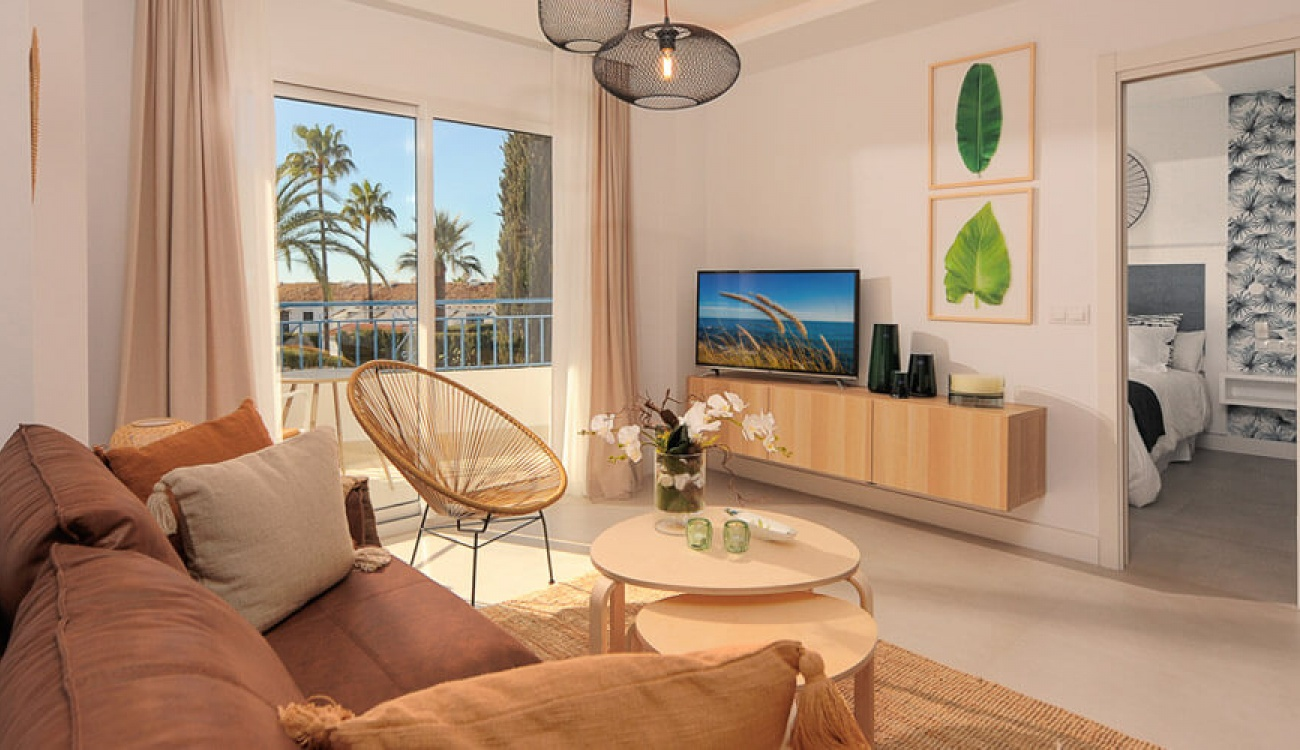 Después - Sala de estar en La Perla de Riviera